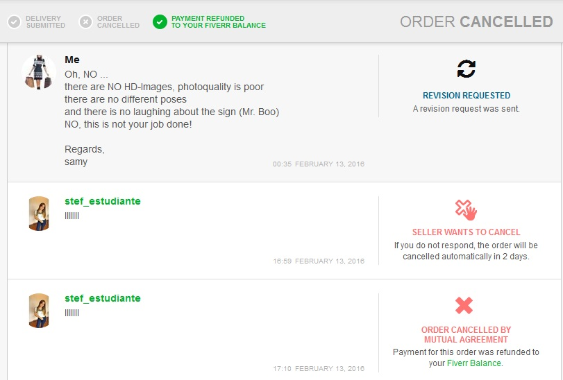 Review about Fiverr Seller stef_estudiante